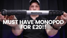 Best Monopod For Video Under £20!! | Manfrotto Compact Advanced Monopod Review