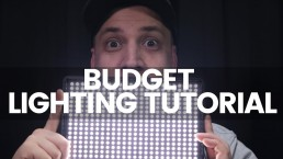 Simple Budget Lighting Techniques For YouTube | Cinematic Single Light Video Sets